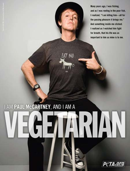 Beatle Paul McCartney é vegetariano