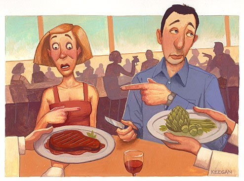 Vegetariano com vontade de comer carne