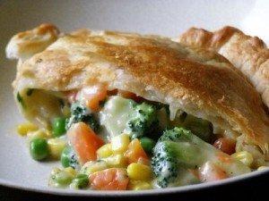 Torta vegetariana de legumes