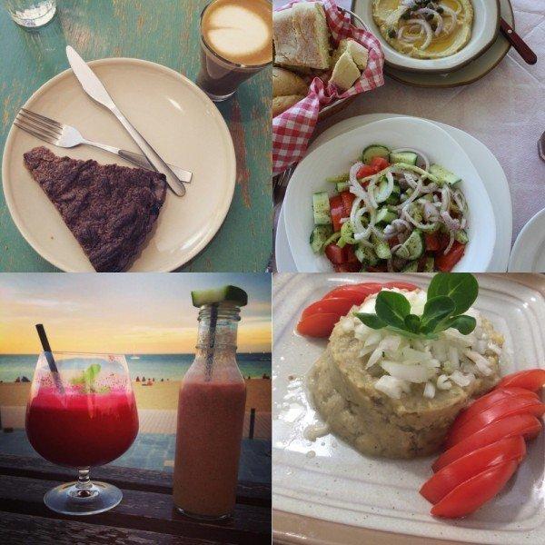 Alimentação vegana durante viagens
